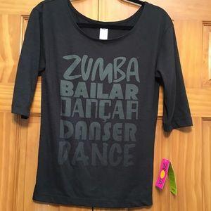 Zumba Fitness Top NWT Made in Peru XS